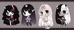 Chibi Mix Adoptables 12 ::CLOSED :: by Hunibi