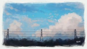 Painterly Pylon by mclelun