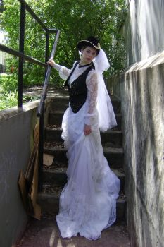 Steampunk Bride + Staircase 5 by HiddenYume-stock