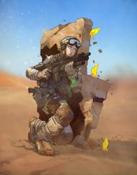 Future Soldier colored by Yinfaowei by Max-Dunbar