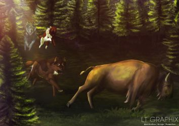 Thrill of the chase! by LTGRAPHIX