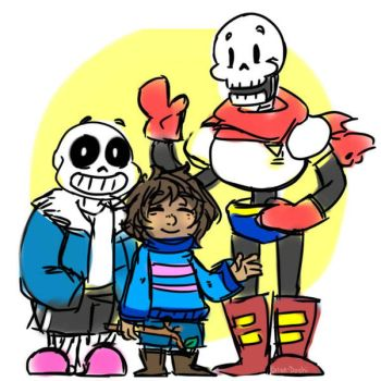 Skeletons and the child by Katze-Doshi