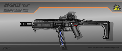 Fictional Firearm: HC-SG15K [Eva] SMG by CzechBiohazard