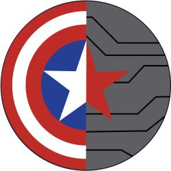 Captain America: WinterSoldier round sign by midoriakaryu
