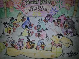 Angry Birds Chinese New Year: Birdnese New Year by MeganLovesAngryBirds