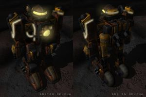 Mech Front and Back View by DelphaDesign