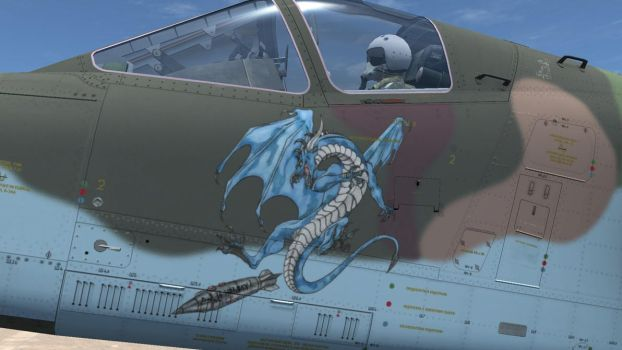 Dragon noseart commission by Chickenzaur by HYPPthe