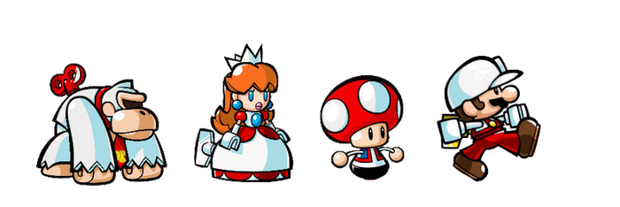 Mario fire minis march again by 1990irock