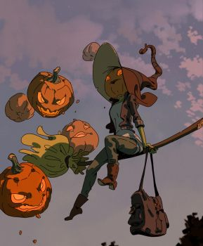 Pumpkin Witch by Varguy