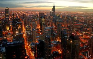 Chicago Night by talikf
