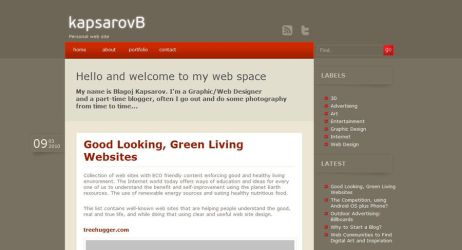 My personal web site by kapsarovb