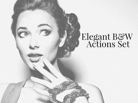 Free Elegant Black and White Photoshop Actions Set by creativewhoa