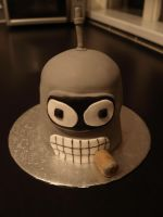 Futurama Cake - Bender by sparks1992