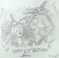 Sonic and Eggman: 27th Anniversary by EggmanFan91