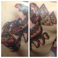 Scorpion, All Seeing Eye, and Pyramids by xxInkxPrincessxx