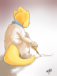 Alphys' Heart by MAXpro15