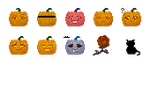 Emoticons 15.2 - Halloween by helca-k