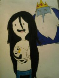 Ice King, Marcy and Gunter by BlueSaltwaterTaffy