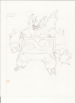 Emboar on notebook paper by Poisonschumach