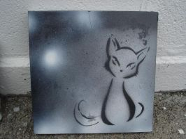 kitty cat stencil by Red-Revolver