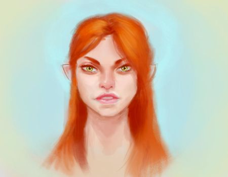 Redhead-portrait-practice-thingaloo by Azjo
