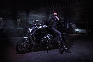 CatWoman DC Comics Batman Arkham Knight by AGflower