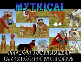 Mythical Items and Markings for FeralHeart by LazyPerfectionistCat