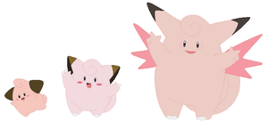 Cleffa, Clefairy and Clefable Base