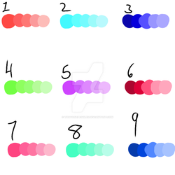 Color Pallete Adopts (OPEN) by ThatOnePeggles