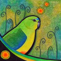 Orange Bellied Parrot as Totem by Ravenari