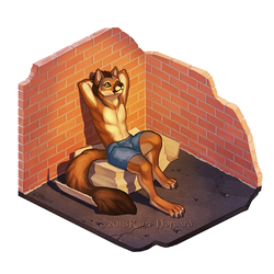 Alley Wolf Petite Place by KatieHofgard