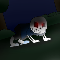 Evil Night Terror Sans [Draw and Trace #12] by cjc728