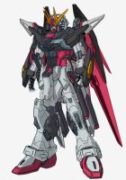 New Destiny Gundam Shinn Asuka Colors by RedZaku