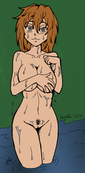 Naked wet girl +colored+ by aneolus