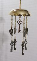SOLD - Steampunk Key and Feather Holiday Ornament by 2ndWindAccessories