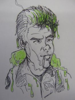 Ghostbusters Dr Ray Stantz toon sketch by Ditch-scrawls