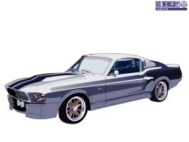 '67 Shelby Mustang GT-500E by scryypy