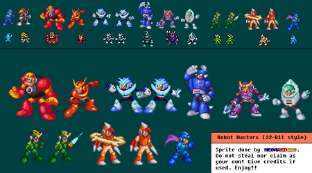 32-Bit Style Sprites Attept by MegaRed225