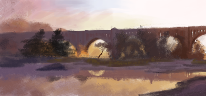 bridge painting by hudporco