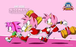 [Amy Rose] Sonic Channel Style by Bakahog