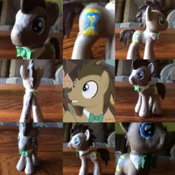 Doctor Whooves- custom clay pony by Timelord909