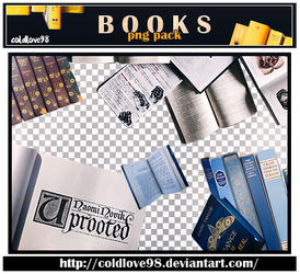 Books Png's Pack | ColdLove98 by ColdLove98