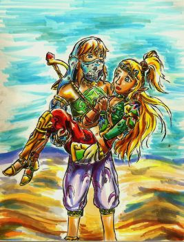 Vai Link and Voe Zelda by TheStarlightPrincess