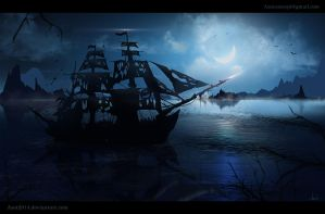 Ghost-Ship - speedpainting by Azot2017