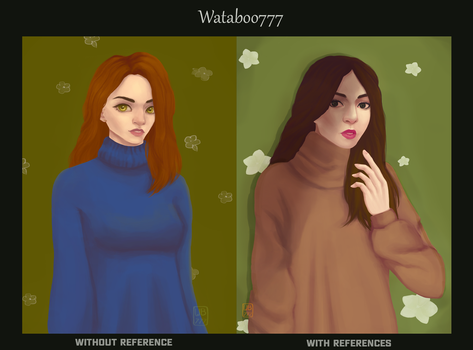 Art with/without refs (study) by wataboo777
