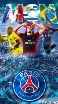 GraphicSamHD 3 0 Mbappe Cavani Neymar Phone Wallpaper 2017 2018 By