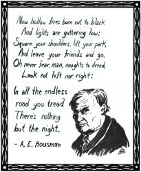 Poem by A.E. Housman ~ Drawing of Clarence Darrow by TheHuntingAccident