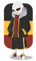 Underverse - Underfell Sans by Lysame