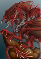 Great Red Dragon by JJFryGraphicARTS