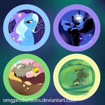 MLP Villians Button by OMGProductions